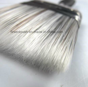 Quality Tapered Synthetic Filament Paint Brush with Rubber Plastic Handle pictures & photos