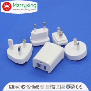 Interchangeable USB Charger Adapter Us EU UK Au and Kc pictures & photos