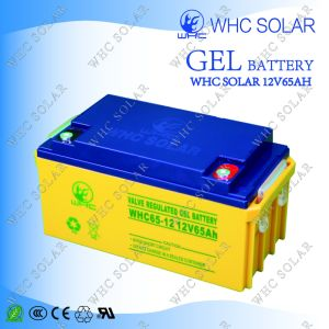 12V 65A Long Life Rechargeable Gel Battery for Solar Power System pictures & photos