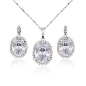 2016 White Gold Plated Cubic Zirconia Jewelry Set Women pictures & photos