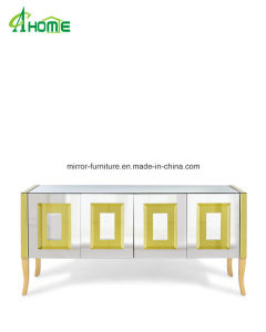 Modern Wooden Legs Mirrored Furniture pictures & photos