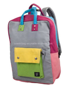 Cotton Canvas Made fashion Ladies Travel Backpack pictures & photos