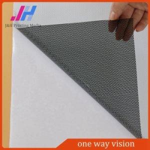 Perforated Window Film Semi-Removable Clear PVC One Way Vision pictures & photos