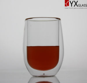 350ml Double Layer Glass Tea Cup/Double Layer Glass Coffee Cup/Double Layer Glass Thermos Cup/Double Wall Glass Cup