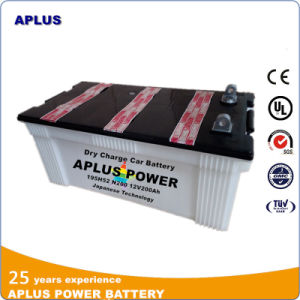 Flat Terminal Option for N200 12V200ah Dry Charge Starting Battery pictures & photos