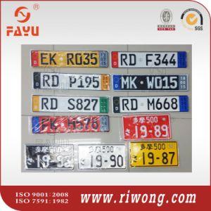 Blank Sublimated Aluminum Car Plate for Souvenir pictures & photos