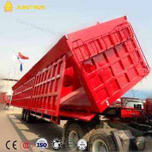 Sinotruk Tipper Semi Trailer Construction Hydraulic Side Tipping Box Dumper pictures & photos