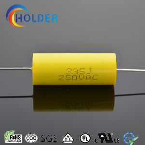 Axial Capacitor (CBB20 335J/250VAC) Metallized Polypropylene Film Cylindrical for Running pictures & photos