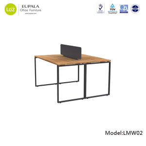 Manufacturer Latest Design 2 Person Melamine Office Desk pictures & photos