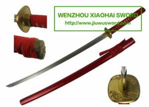Handmade Red Katana Wakizashi Tanto HK107 pictures & photos