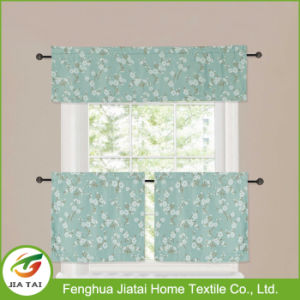 Polyester High Quality Green Kitchen Curtains Window Patterns pictures & photos