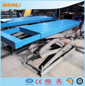 5000kg One Side Extension Small Platform Full Rise Scissor Lift pictures & photos