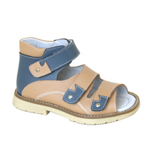 Colorful Kids Corrective Sandal Children Orthopedic Leather Sandal Could Do Anti-Varus Model pictures & photos