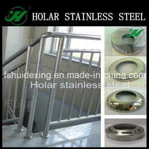 Mirror Polish Stainless Steel Railing Round Base Cover pictures & photos