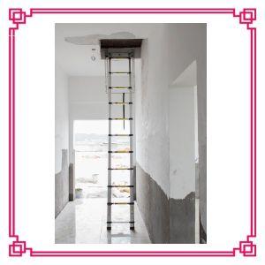Aluminium Telescopic Loft Ladder pictures & photos