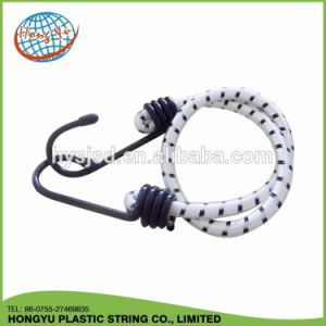 Strong Elasticity and Competitive 8mm Black Elastic Bungee Cord with Metal End pictures & photos