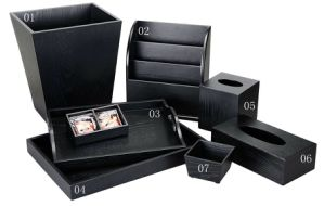 Wooden Product Black Ash Series in-Room Bin Magazine Rack Candy Box pictures & photos