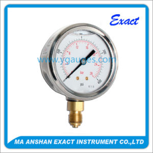 Factory Price Silicone or Glycerine Liquid Filled Pressure Gauge pictures & photos