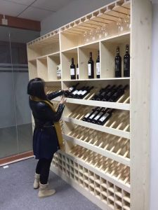 Floor Stand Layers Wooden Wine Rack pictures & photos