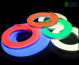 RGBW Color Changing DC24V 11*17mm LED Neon Flex Light with PVC Side View pictures & photos