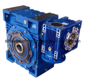 Double Worm Gearbox Nmrv150 with Nmrv075 Low Output Speed pictures & photos