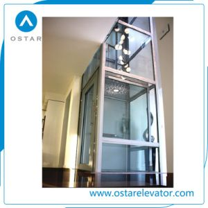Glass Panoramic 320kg 0.5m/S Villa Elevator for Home Used pictures & photos