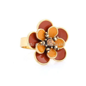 Gold Yellow Flower Poetic Daisy Finger Ring for Women Engagement Fashion Jewelry pictures & photos