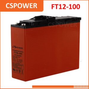 FT12-100 12V100Ah Front Terminal/Telecom Battery for Solar Storage pictures & photos