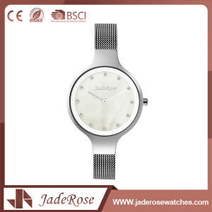 Large Round Dial Shape Stainless Steel Quartz Wrist Watch pictures & photos
