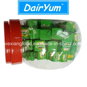 Milk Cube and Choco Cube Candy in Small Jar Suitable for Eating pictures & photos