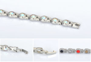 Fashion Multicolor Crystal Bracelet for Lady with Stainless Steel Magnet pictures & photos