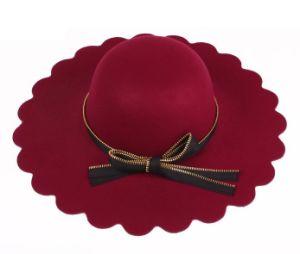Plain Rhinestone Broad Brim Hat pictures & photos
