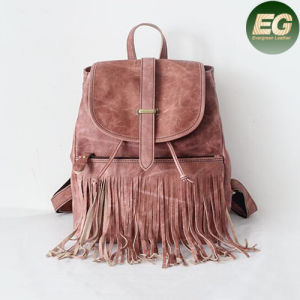 Retro Top Workmanship Backpack Women Travelling Bags Tassel Emg4879 pictures & photos