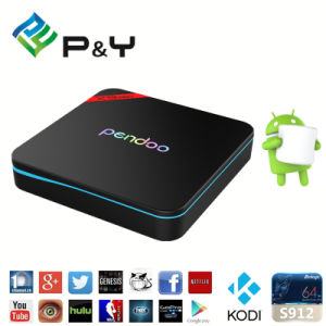 P&Y Hot Selling Free Download on Google Play Store 2GB RAM 16GB TV Box Kodi Pre-Installed Amlogic S912 Pendoo X9 PRO pictures & photos