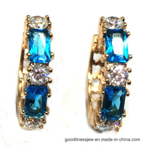 2017 New Design Earring with Blue Gemstone (E6937) pictures & photos