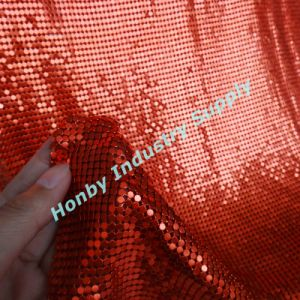 2017 New Red Design Metallic Sequin Cloth