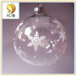 8cm Clear Christmas Glass Ball pictures & photos