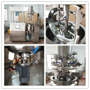 Skin Care Cosmetic Cream Vacuum Emulsifying Mixer Making Machine pictures & photos