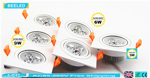 9W Cool White Square Aluminum High Power Dimmable LED Downlight pictures & photos