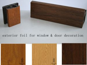 Wooden Grain Exterior Foil/ Film for Window Sill/ UPVC Profiles pictures & photos