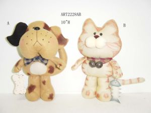 Christmas Standing Cat & Dog Decoration-4asst. pictures & photos