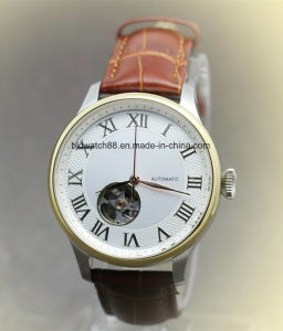 Custom Watches Stainless Steel Automatic Watch with Tourbillon pictures & photos