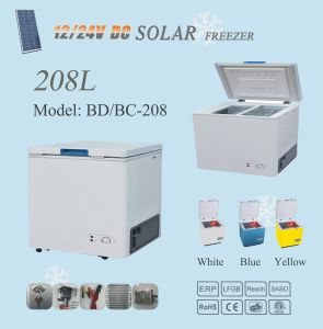 12V/24V Solar Refrigerator Freezer 208L Home Use pictures & photos