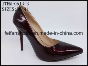 2017 Newest Lady High Heels Shoes PU Footwear Shoes (0513-3) pictures & photos