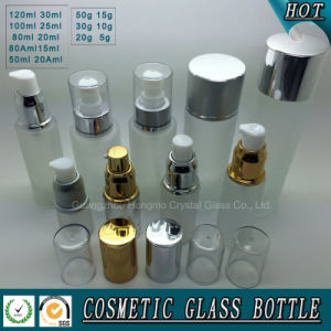 Frosted Glass Cosmetic Bottle and Cream Jar for Skin Care pictures & photos