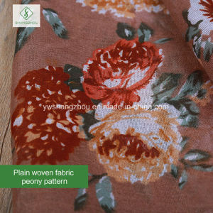 2017 Top Selling Retro Peony Printed Viscose / Polyester Fashion Lady Scarf pictures & photos
