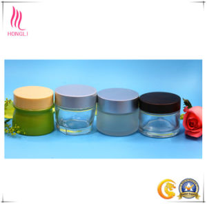 10g Facial Mask Glass Cosmetic Bottle Empty Jars, Round Eye Cream Packing Bottles with Cover pictures & photos