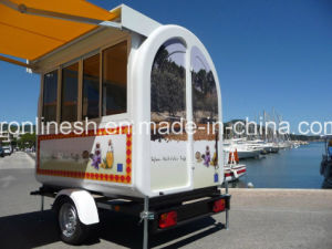 Concession Trailer/Mobile Food Stall/Crepe Making Cart/Fastfood Grill Cart/Food Booth Trailer/Gateau Food Cart/Food Serving Cart/Restaurant Trailer Ce pictures & photos