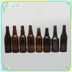 330ml Leadless Amber Glass Beer Bottle pictures & photos