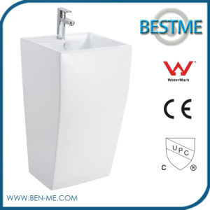 Popular Design Best Price Modern Design Nano Ceramic 1PC Pedestal Basin pictures & photos